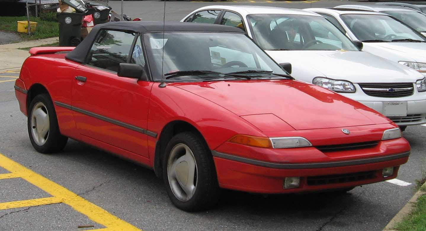 Curbside Classic 1991 Mercury Capri Birds Of A Feather 1980 Ford Interior The Biggest Difference Between And Miata Was That Had Front Wheel Drive Tiny Back Seat After Few Modifications To Get It