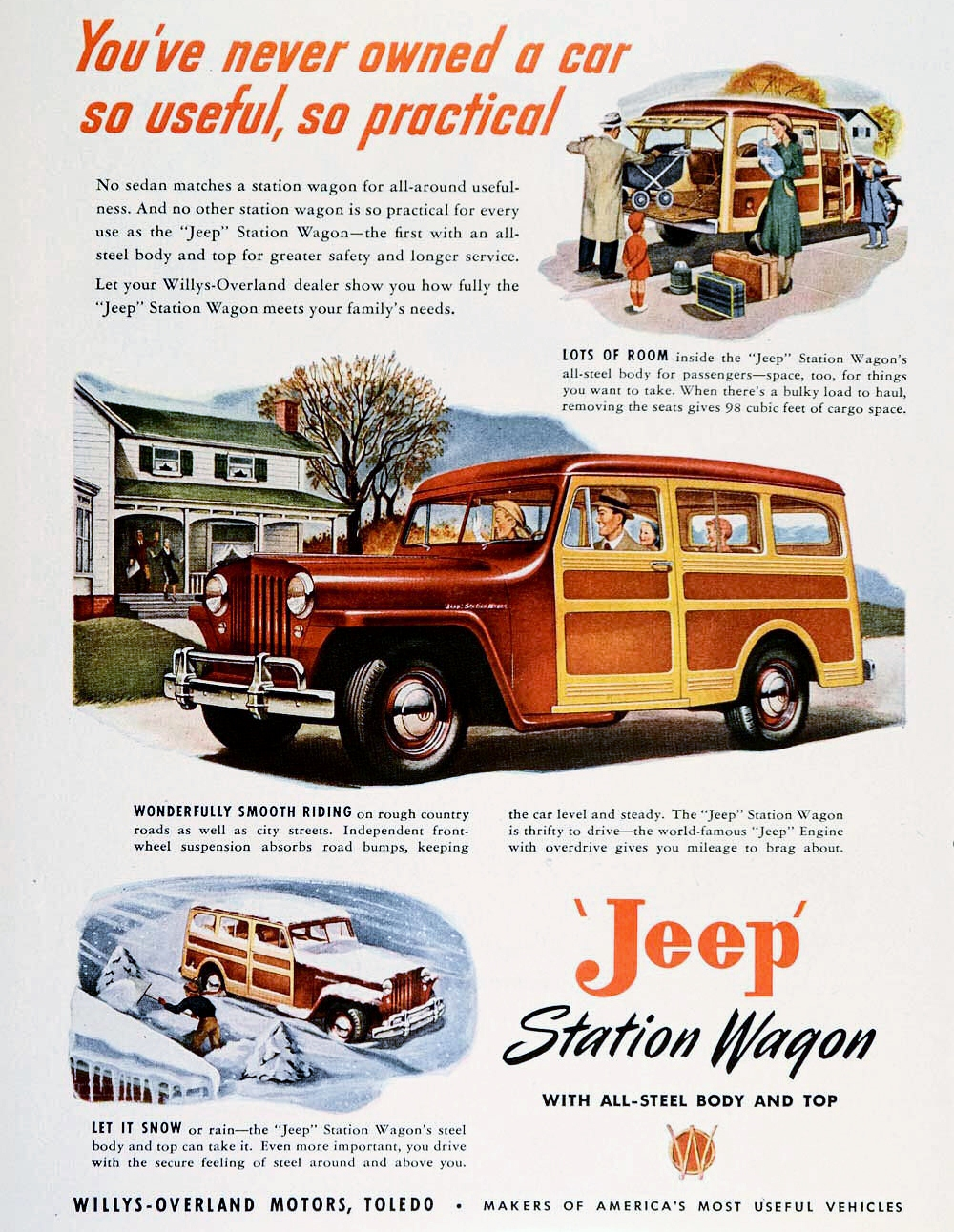 Curbside Classic 1950 Willys Jeepster Another Brooks Stevens Beauty Jeep Pickup Truck It Joined The Station Wagon A More Family Oriented That Had Debuted In 1946 Too Was Styled By Though May Be