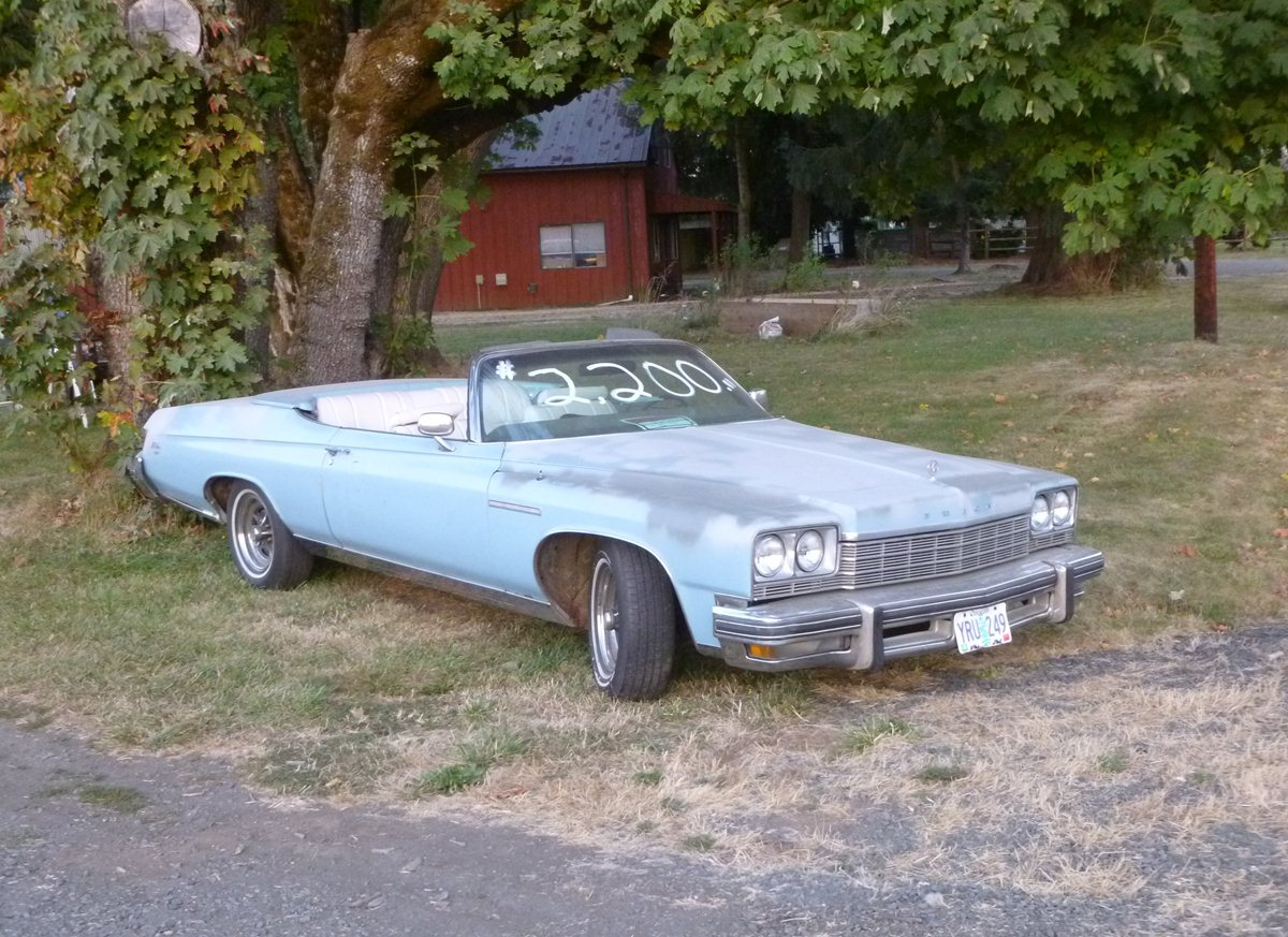 Curbside Classic Capsule: 1975 Buick LeSabre Convertible – Own The ...