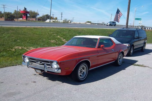 curbside classic: 1971 ford mustang grande – como se dice brougham?