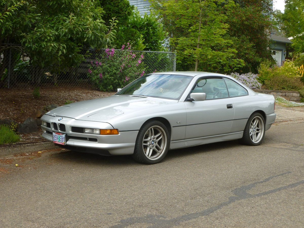 curbside classic bmw 850i and 840ci nineties icon or technological overkill. Black Bedroom Furniture Sets. Home Design Ideas
