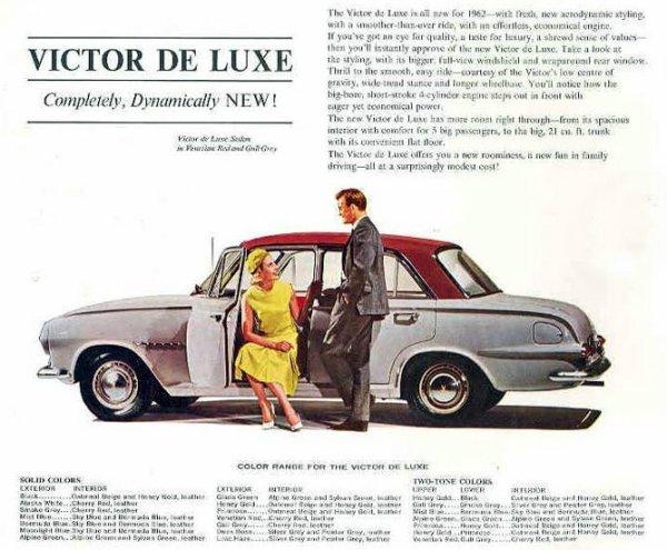 Vauxhall Victor De Luxe Canada 1962