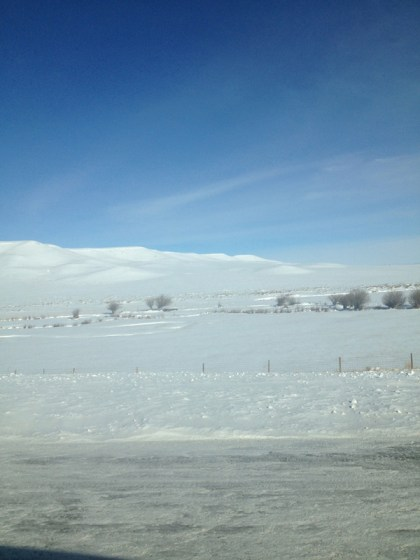 Wyoming snow and sunshine