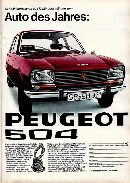Peugeot 504 COTY 1969