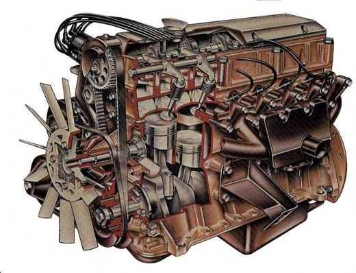 six cylinder engine
