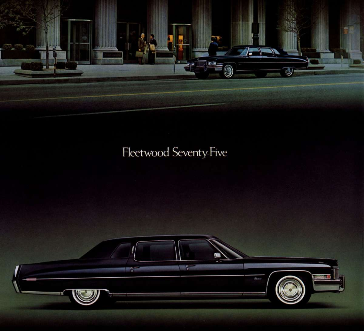In discussing the cadillac fleetwood 75 it s important to note that this was a regular production model and not a stretch limo there were two versions