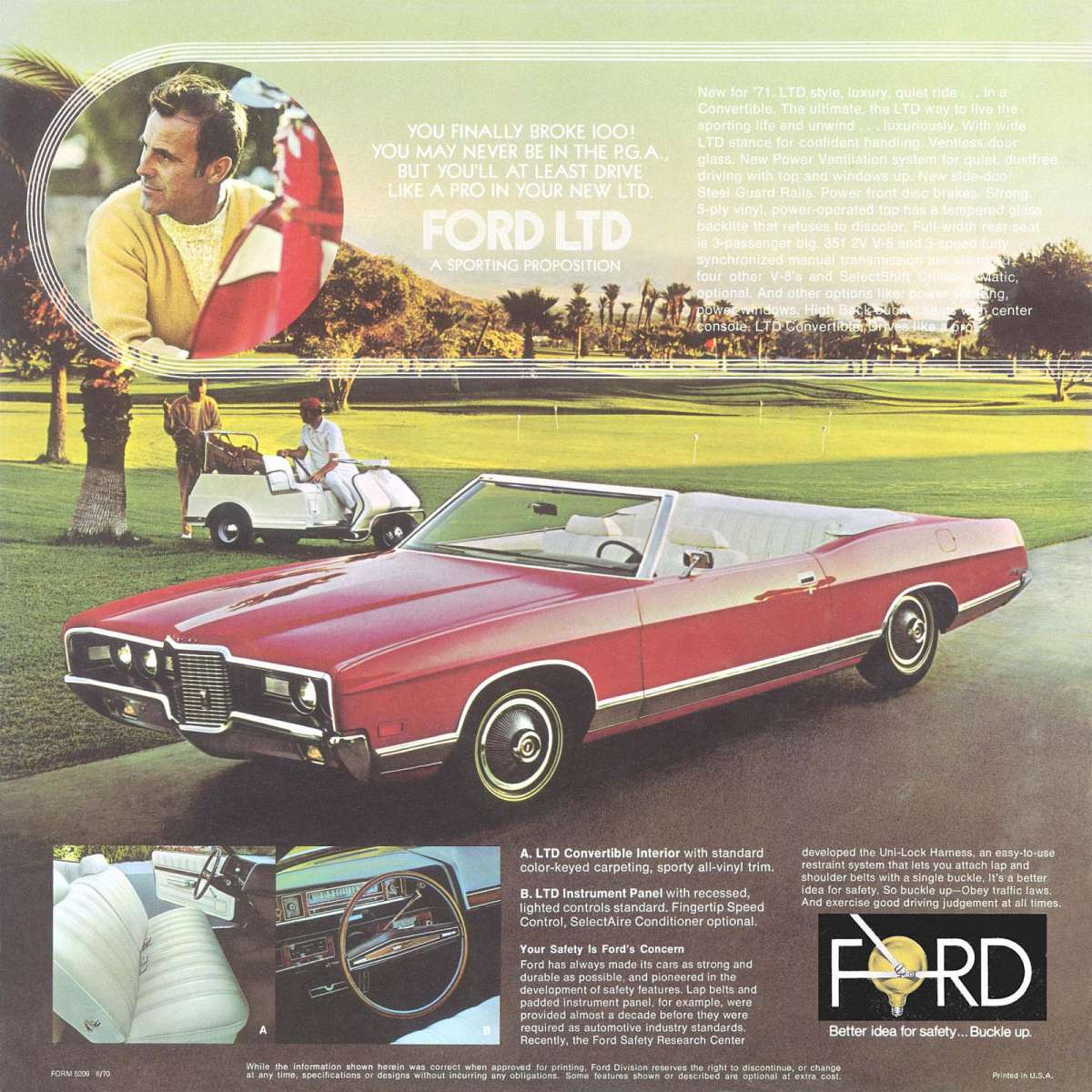 1970 Ford Ltd Convertible Curbside Classic 1971 The Name On Title Sports Set 16