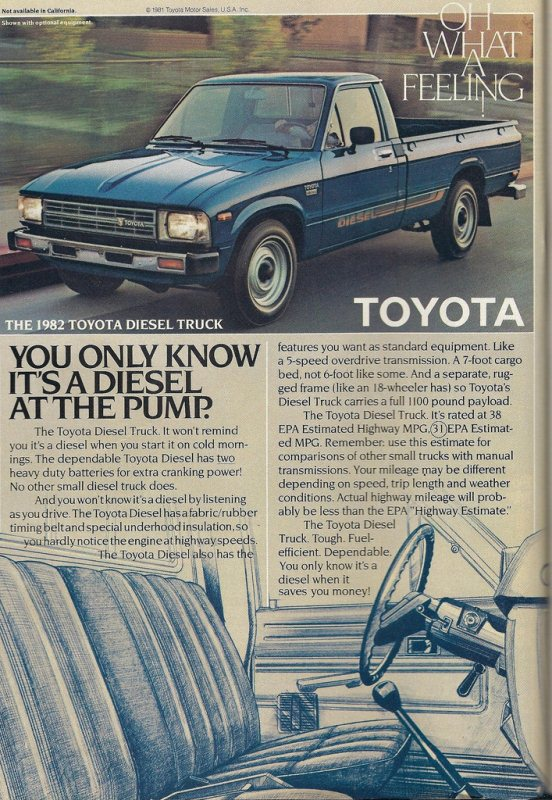 curbside classic 1982 toyota diesel pickup