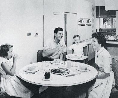 Reagan at home