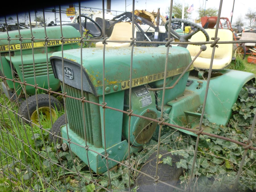 Lots Of John Deeres, Including This 112, A Direct Descendent Of The First  JD Garden Tractor, The Legendary 110 From 1963. Kohler Engines Were Used,  ...