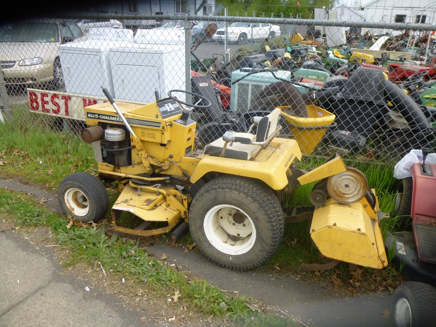lawnside classics burt s vintage and used riding mower and an allis chalmers to go along your big ac farm tractor after john deere and international got into the riding mower garden tractor business