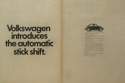 vw autostick  ad