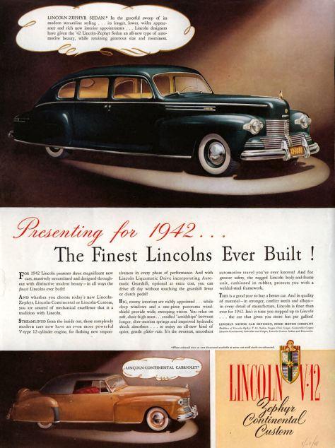1942 Lincoln Ad01