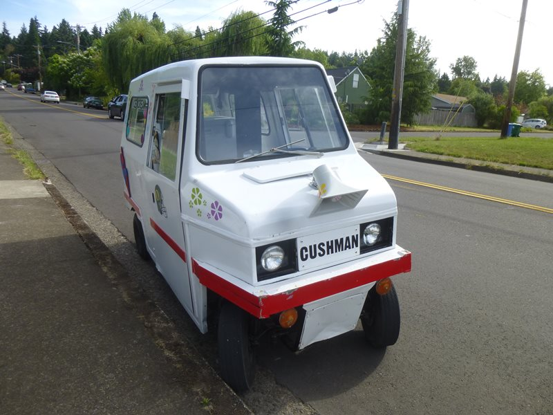 curbside classic 1985 cushman truckster ice cream truck. Black Bedroom Furniture Sets. Home Design Ideas