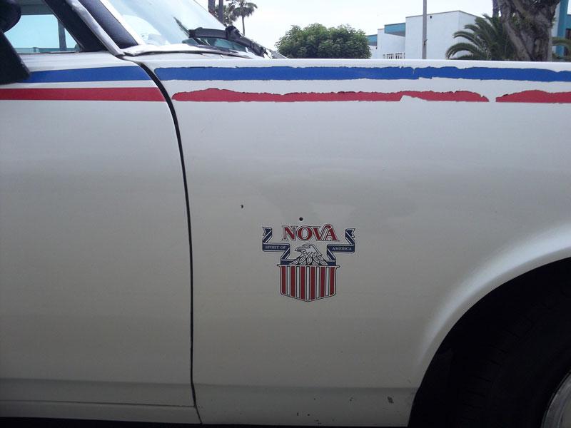 Curbside Classic 1974 Chevy Nova Spirit Of America Red