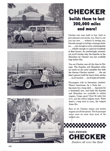 checker ad 1960