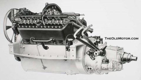 Packard twin six engine