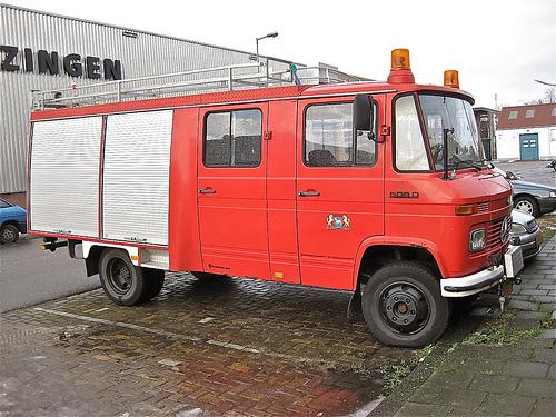 Mercedes T2 fire truck