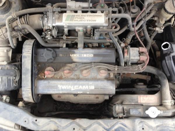 1989 Suzuki Swift GT engine