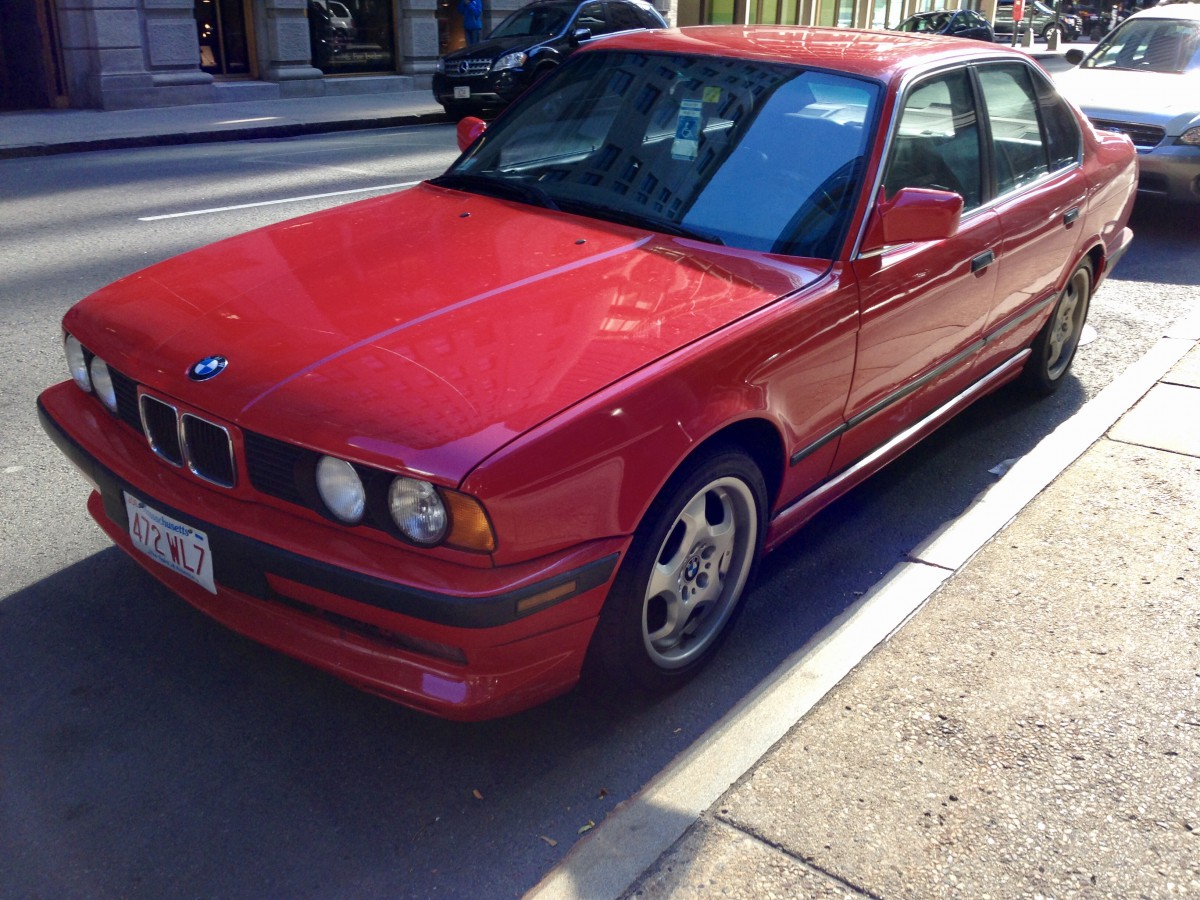 curbside classic 1992 bmw 525i e34 the red bimmer of my childhood dreams curbside classic curbside classic 1992 bmw 525i e34