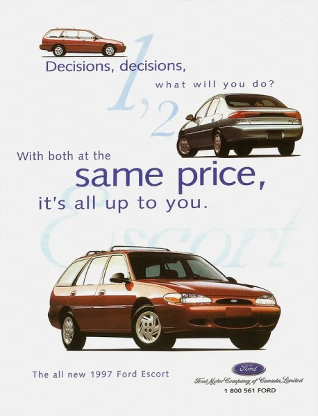 1997 Ford Escort ad