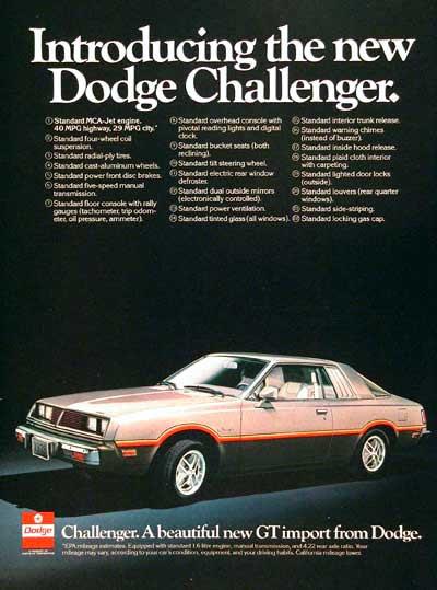 Dodge Challenger 1978 -1