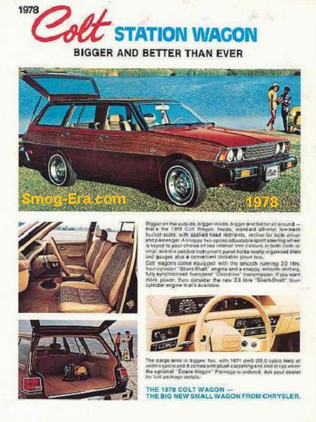 Dodge colt wagon 1978