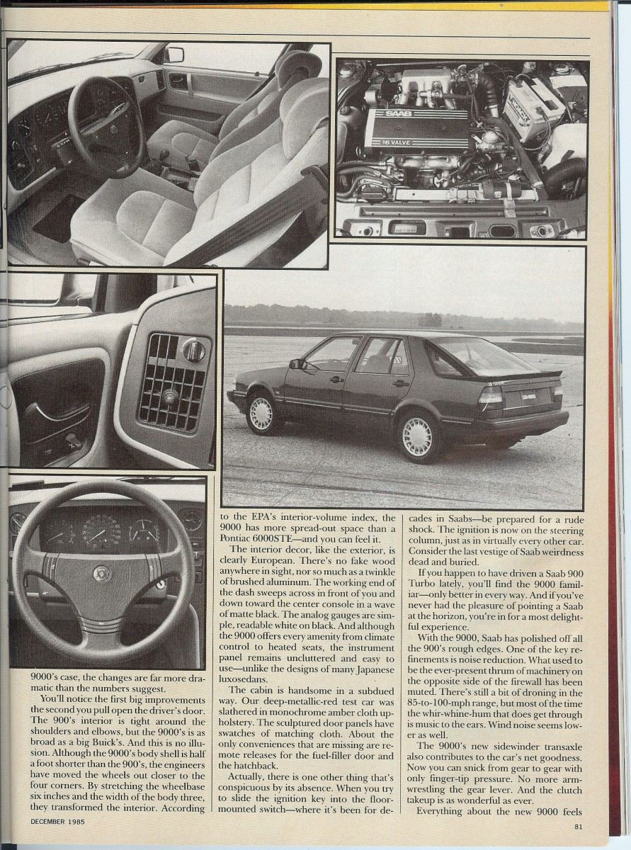 vintage roadtest c d tests the 1986 saab 9000 turbo. Black Bedroom Furniture Sets. Home Design Ideas