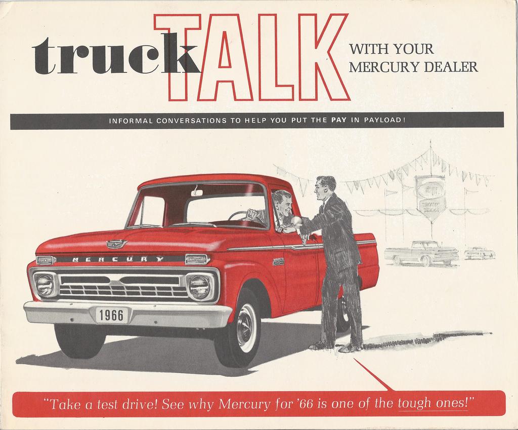 CC Brochure: 1966 Mercury Pickup Truck – For the Canadian Paul