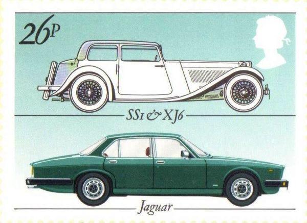 1982 Jaguar postage stamp