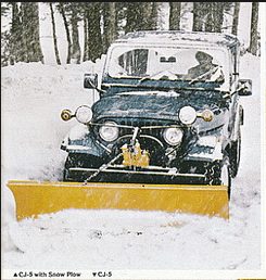 Jeep CJ-5 snow plow