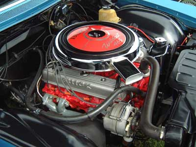 Buick riviera 1966 GS -engine