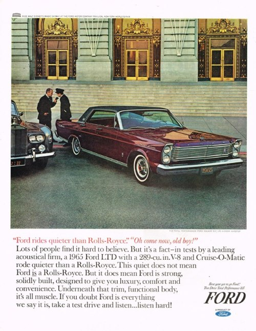 Ford LTD 1965 ad