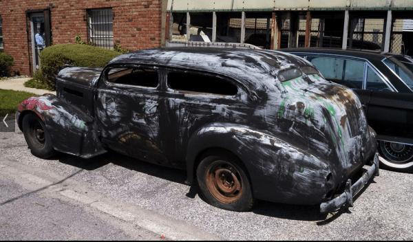 Oldsmobile 1937 Hot rod side