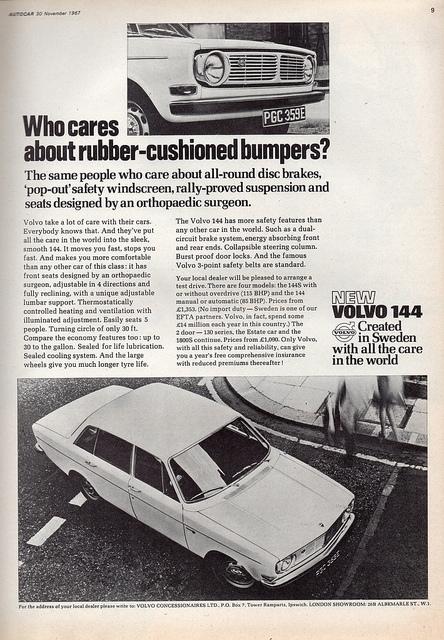 Volvo 144 ad