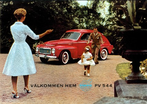 Volvo PV 544 red