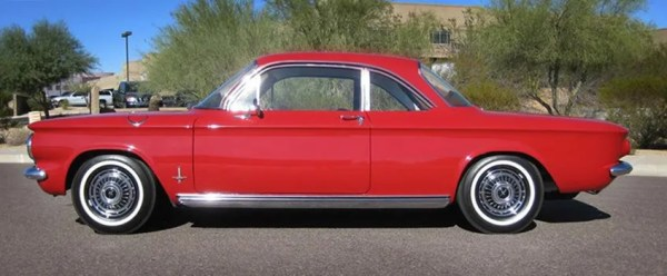 Corvair  1961 coupe red crop