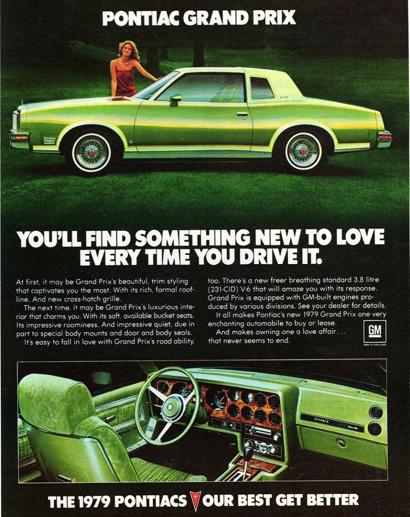 Vintage Review 1979 Pontiac Grand Prix Sj Shes No Fun My Three 1953 Ad A1 812x1024