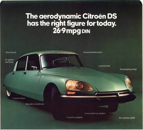 1973 Citroen DS advert
