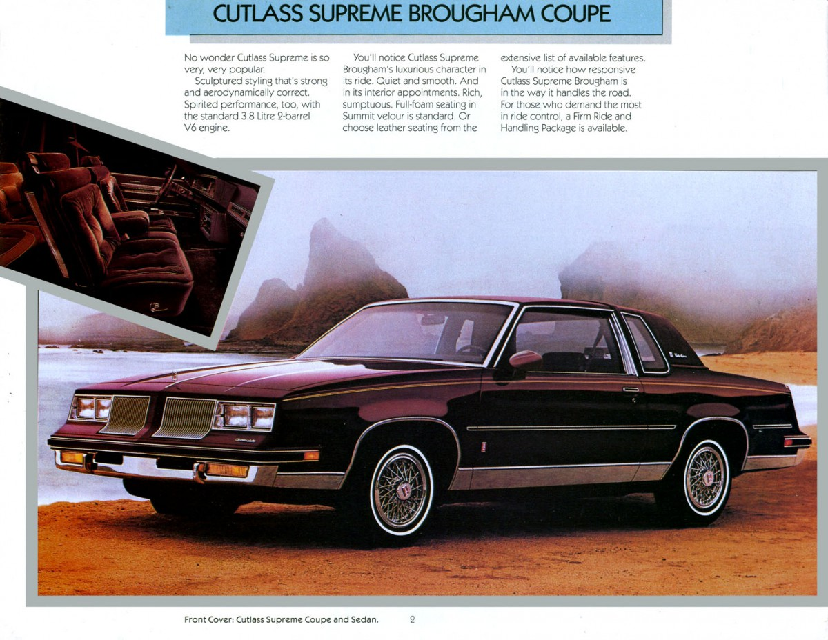 By far the most popular was the oldsmobile cutlass supreme a car which seemed to be in about half the driveways in the area outselling the grand prix