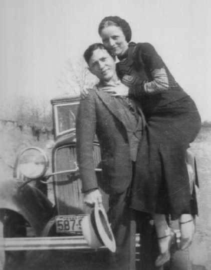 Bonnie and Clyde bw