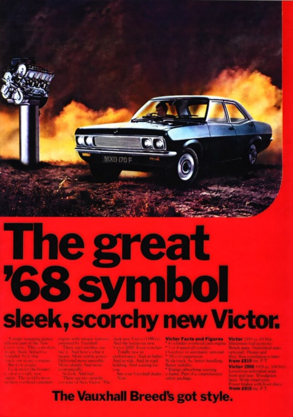 Victor FD advert 1968