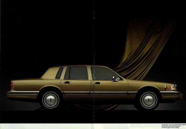 Brochure Outtake 1990 Lincoln Town Car Panthers Join The Go Go 90s