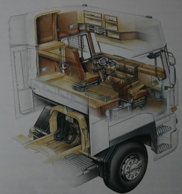 DAF Space Cab interieur
