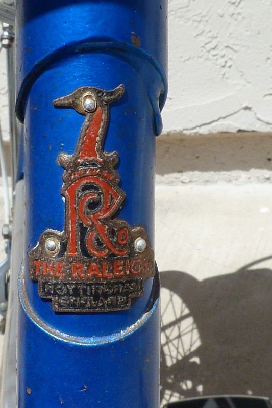 Raleigh headbadge - not just a decal.