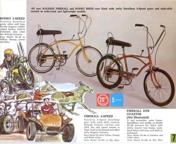 Raleigh Rodeo and Fireball page from the 1969 catalog