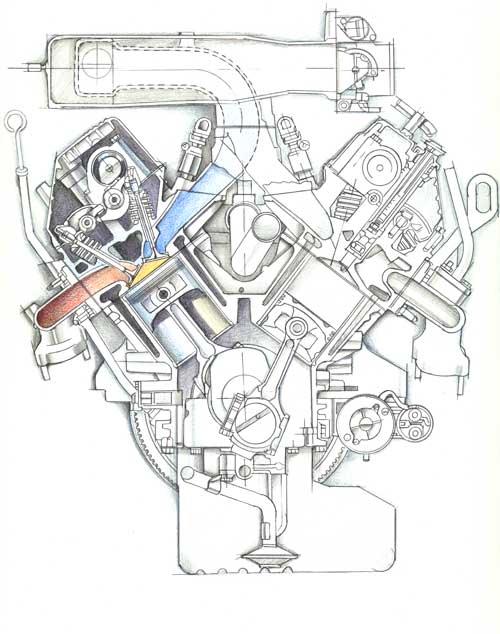 isuzu-engine-cross-section