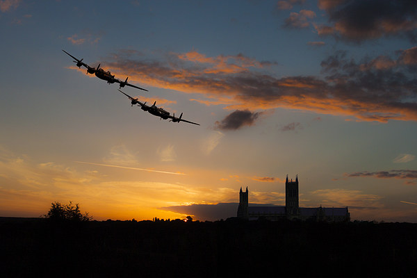 2 lancasters over lincoln