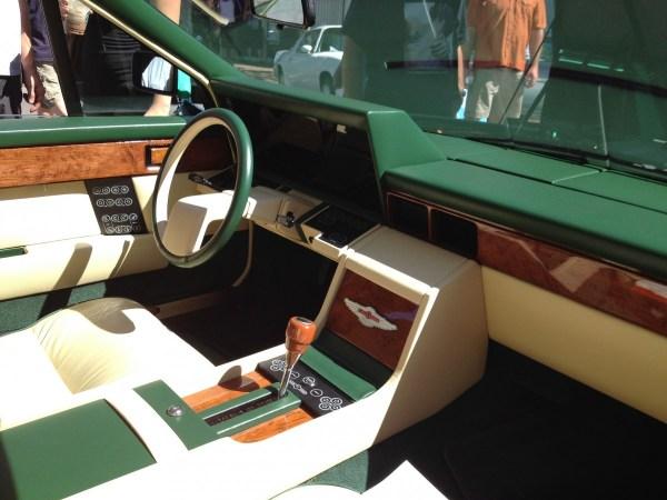 Aston Martin Lagonda green int