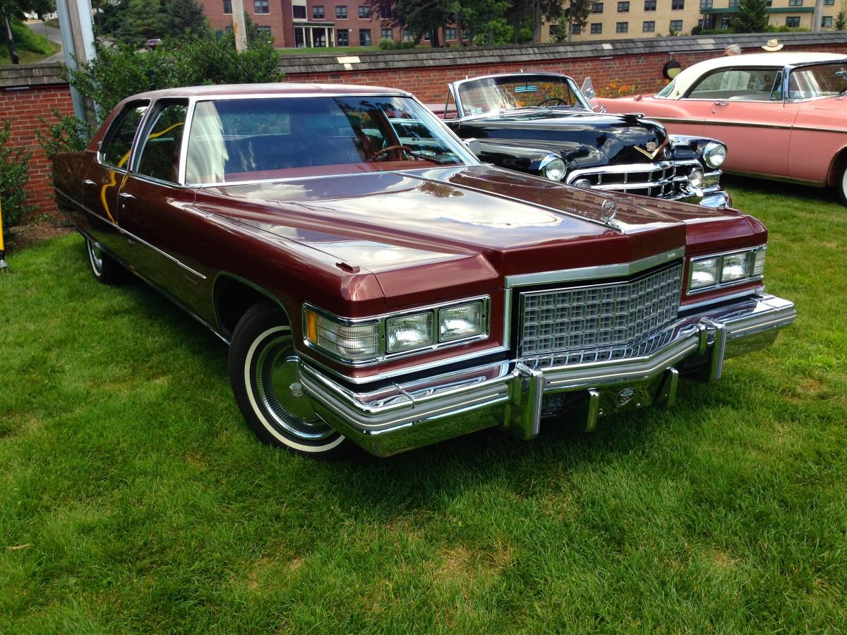 Car Show Classic 1976 Cadillac Fleetwood Brougham When A Deville 50s V8 Engine Isnt Big Enough